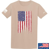 IV8888 Distressed Flag T-Shirt T-Shirts Small / Sand by Ballistic Ink - Made in America USA