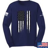 IV8888 Thin Blue Line Long Sleeve T-Shirt Long Sleeve Small / Navy by Ballistic Ink - Made in America USA