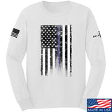 IV8888 Thin Blue Line Long Sleeve T-Shirt Long Sleeve Small / White by Ballistic Ink - Made in America USA