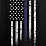 IV8888 Thin Blue Line Long Sleeve T-Shirt Long Sleeve [variant_title] by Ballistic Ink - Made in America USA