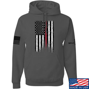 IV8888 Thin Red Line Hoodie Hoodies Small / Navy by Ballistic Ink - Made in America USA