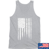 IV8888 Distressed White Flag Tank Tanks SMALL / Light Grey by Ballistic Ink - Made in America USA