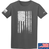 IV8888 Distressed White Flag T-Shirt T-Shirts Small / Charcoal by Ballistic Ink - Made in America USA