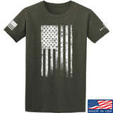 IV8888 Distressed White Flag T-Shirt T-Shirts Small / Military Green by Ballistic Ink - Made in America USA