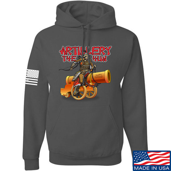 IV8888 Artillery the Hun Hoodie Hoodies Small / Charcoal by Ballistic Ink - Made in America USA