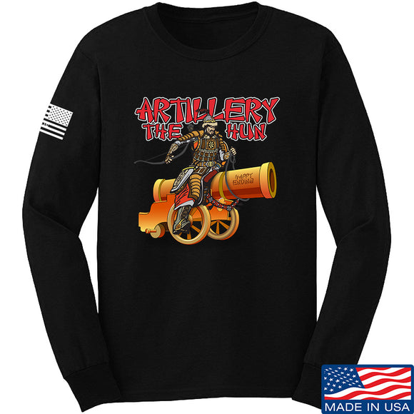 IV8888 Artillery the Hun Long Sleeve T-Shirt Long Sleeve Small / Black by Ballistic Ink - Made in America USA