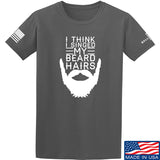 IV8888 I Think I Singed My Beard Hairs T-Shirt T-Shirts Small / Charcoal by Ballistic Ink - Made in America USA