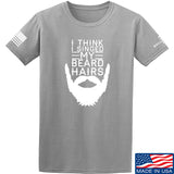 IV8888 I Think I Singed My Beard Hairs T-Shirt T-Shirts Small / Light Grey by Ballistic Ink - Made in America USA