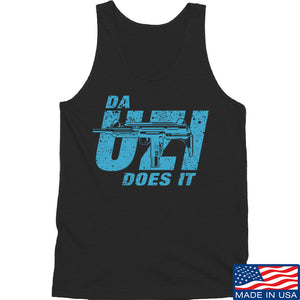 IV8888 Da Uzi Does It Tank Tanks SMALL / Navy by Ballistic Ink - Made in America USA