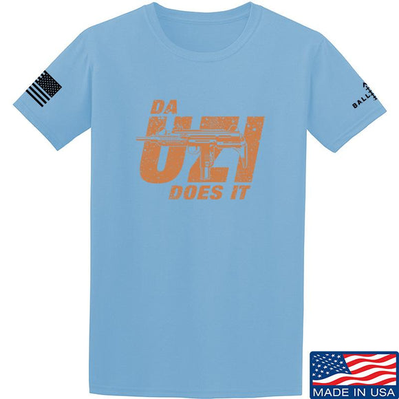 IV8888 Da Uzi Does It T-Shirt T-Shirts Small / Light Blue by Ballistic Ink - Made in America USA