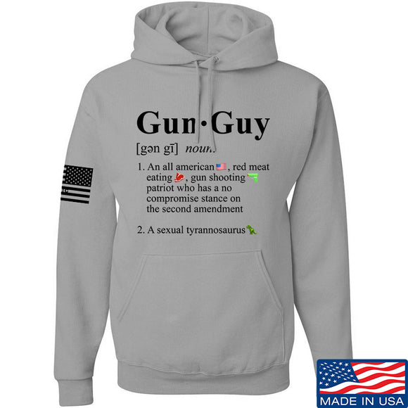 IV8888 Gun Guy Hoodie Hoodies Small / Light Grey by Ballistic Ink - Made in America USA