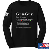 IV8888 Gun Guy Long Sleeve T-Shirt Long Sleeve Small / Black by Ballistic Ink - Made in America USA