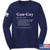 IV8888 Gun Guy Long Sleeve T-Shirt Long Sleeve Small / Navy by Ballistic Ink - Made in America USA