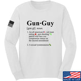 IV8888 Gun Guy Long Sleeve T-Shirt Long Sleeve Small / White by Ballistic Ink - Made in America USA