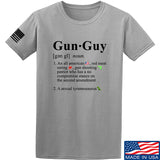 IV8888 Gun Guy T-Shirt T-Shirts Small / Light Grey by Ballistic Ink - Made in America USA