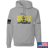 IV8888 Don't Tread on Me Hoodie Hoodies Small / Light Grey by Ballistic Ink - Made in America USA