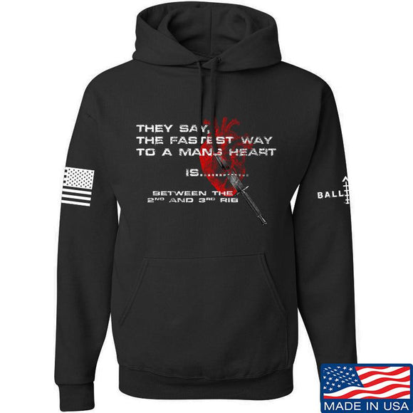 IV8888 Fastest Way to a Man's Heart Hoodie Hoodies Small / Black by Ballistic Ink - Made in America USA