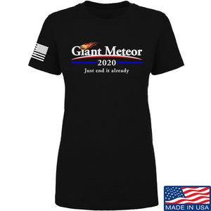 IV8888 Ladies Giant Meteor 2020 T-Shirt T-Shirts SMALL / Black by Ballistic Ink - Made in America USA