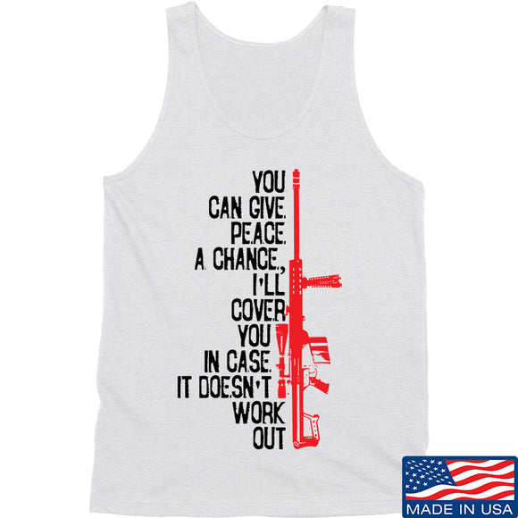 IV8888 Give Peace A Chance Tank Tanks SMALL / White by Ballistic Ink - Made in America USA