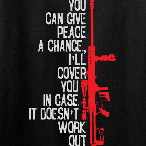 IV8888 Give Peace A Chance T-Shirt T-Shirts [variant_title] by Ballistic Ink - Made in America USA