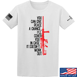 IV8888 Give Peace A Chance T-Shirt T-Shirts Small / White by Ballistic Ink - Made in America USA