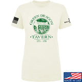 IV8888 Ladies Green Dragon Tavern T-Shirt T-Shirts SMALL / Cream by Ballistic Ink - Made in America USA
