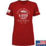 IV8888 Ladies Green Dragon Tavern T-Shirt T-Shirts SMALL / Red by Ballistic Ink - Made in America USA
