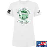 IV8888 Ladies Green Dragon Tavern T-Shirt T-Shirts SMALL / White by Ballistic Ink - Made in America USA