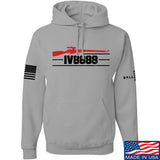 IV8888 IV8888 Logo Hoodie Hoodies Small / Light Grey by Ballistic Ink - Made in America USA