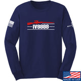 IV8888 IV8888 Logo Long Sleeve T-Shirt Long Sleeve Small / Navy by Ballistic Ink - Made in America USA