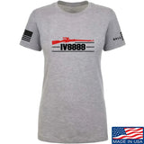 IV8888 Ladies IV8888 Logo T-Shirt T-Shirts SMALL / Light Grey by Ballistic Ink - Made in America USA