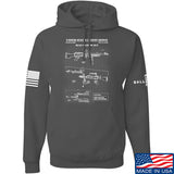 IV8888 M240 Machine Gun Specs Hoodie Hoodies Small / Charcoal by Ballistic Ink - Made in America USA