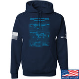 IV8888 M240 Machine Gun Specs Hoodie Hoodies Small / Navy by Ballistic Ink - Made in America USA