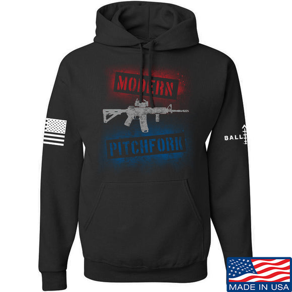 IV8888 Modern Pitchfork Hoodie Hoodies Small / Black by Ballistic Ink - Made in America USA