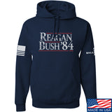 IV8888 Reagan Bush Hoodie Hoodies Small / Navy by Ballistic Ink - Made in America USA