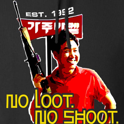 No Loot No Shoot Roof Korean Hoodie