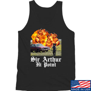 IV8888 Sir Arthur Hi Point Tank Tanks SMALL / Black by Ballistic Ink - Made in America USA