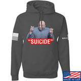 "IV8888 ""Suicide"" Hoodie Hoodies Small / Charcoal by Ballistic Ink - Made in America USA"
