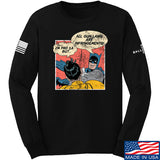 IV8888 Superhero Pro 2A Long Sleeve T-Shirt Long Sleeve Small / Black by Ballistic Ink - Made in America USA