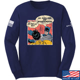 IV8888 Superhero Pro 2A Long Sleeve T-Shirt Long Sleeve Small / Navy by Ballistic Ink - Made in America USA