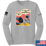 IV8888 Superhero Pro 2A Long Sleeve T-Shirt Long Sleeve Small / Light Grey by Ballistic Ink - Made in America USA