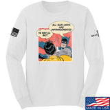 IV8888 Superhero Pro 2A Long Sleeve T-Shirt Long Sleeve Small / White by Ballistic Ink - Made in America USA
