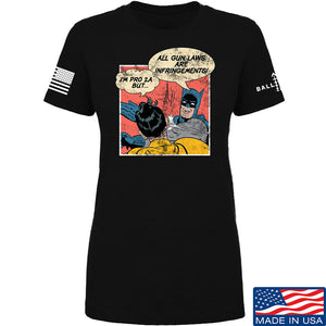 IV8888 Ladies Superhero Pro 2A T-Shirt T-Shirts SMALL / Navy by Ballistic Ink - Made in America USA