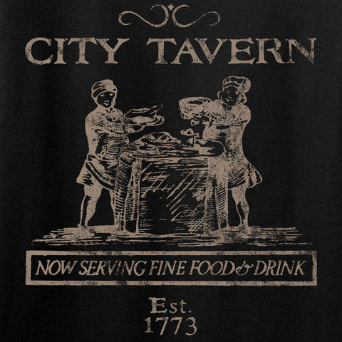 IV8888 Founding Fathers' City Tavern Signage Long Sleeve T-Shirt Long Sleeve [variant_title] by Ballistic Ink - Made in America USA