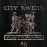 IV8888 Ladies Founding Fathers' City Tavern Signage T-Shirt T-Shirts [variant_title] by Ballistic Ink - Made in America USA