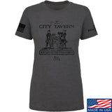 IV8888 Ladies Founding Fathers' City Tavern Signage T-Shirt T-Shirts SMALL / Charcoal by Ballistic Ink - Made in America USA