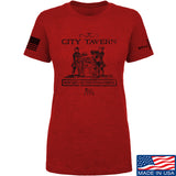 IV8888 Ladies Founding Fathers' City Tavern Signage T-Shirt T-Shirts SMALL / Red by Ballistic Ink - Made in America USA