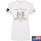 IV8888 Ladies Founding Fathers' City Tavern Signage T-Shirt T-Shirts SMALL / White by Ballistic Ink - Made in America USA