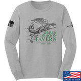 IV8888 Green Dragon Tavern Signage Long Sleeve T-Shirt Long Sleeve Small / Light Grey by Ballistic Ink - Made in America USA