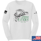 IV8888 Green Dragon Tavern Signage Long Sleeve T-Shirt Long Sleeve Small / White by Ballistic Ink - Made in America USA
